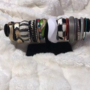 Different style bracelets